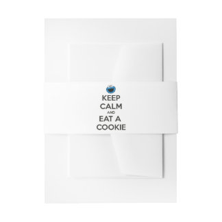 Keep Calm and Eat a Cookie Invitation Belly Band