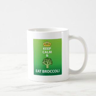 Keep Calm and Eat Broccoli vector Coffee Mug