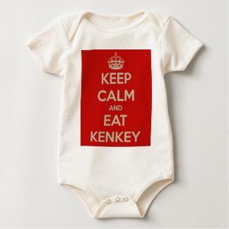 keep-calm-and-eat-kenkey baby bodysuit