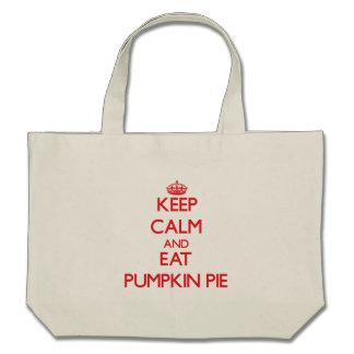 Keep calm and eat Pumpkin Pie Tote Bag
