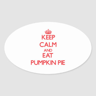 Keep calm and eat Pumpkin Pie Stickers