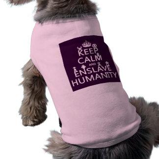 Keep Calm and Enslave Humanity (robots) Shirt