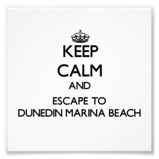 Keep calm and escape to Dunedin Marina Beach Flori Photo Art