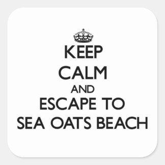 Keep calm and escape to Sea Oats Beach Florida Square Sticker