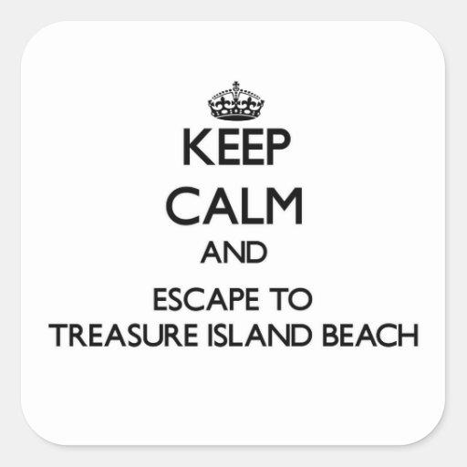 Keep calm and escape to Treasure Island Beach Flor Stickers