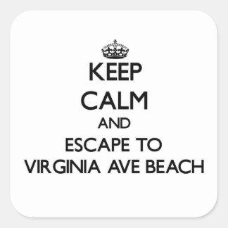 Keep calm and escape to Virginia Ave Beach Delawar Sticker