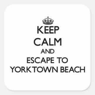 Keep calm and escape to Yorktown Beach Virginia Stickers