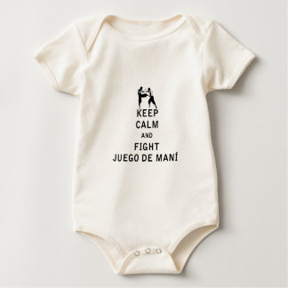 Keep Calm and Fight Juego de Mani Baby Bodysuit