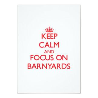Keep Calm and focus on Barnyards 13 Cm X 18 Cm Invitation Card