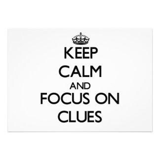 Keep Calm and focus on Clues Custom Invite