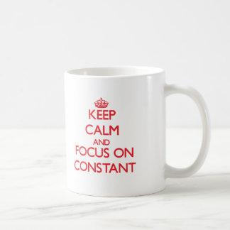 Keep Calm and focus on Constant Basic White Mug