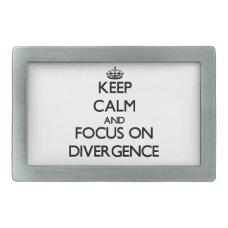 Keep Calm and focus on Divergence Belt Buckles