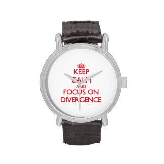 Keep Calm and focus on Divergence Wrist Watch