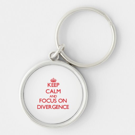 Keep Calm and focus on Divergence Key Chain