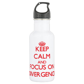 Keep Calm and focus on Divergence 532 Ml Water Bottle