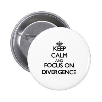 Keep Calm and focus on Divergence Pinback Button