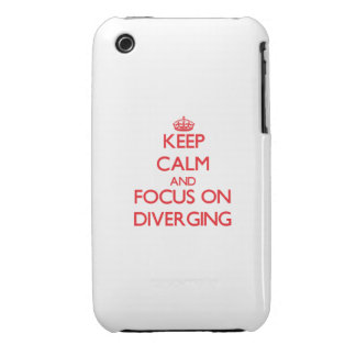 Keep Calm and focus on Diverging iPhone 3 Case-Mate Case