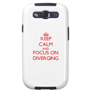 Keep Calm and focus on Diverging Galaxy S3 Cover