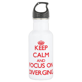 Keep Calm and focus on Diverging 532 Ml Water Bottle