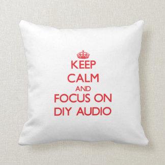 Keep calm and focus on Diy Audio Throw Pillow