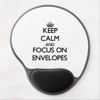 Keep Calm and focus on ENVELOPES Gel Mouse Pad