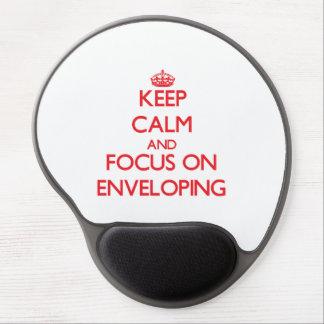 Keep Calm and focus on ENVELOPING Gel Mousepad