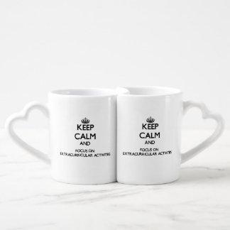 Keep Calm and focus on EXTRACURRICULAR ACTIVITIES Couples Mug