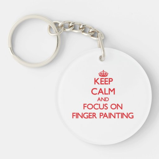 Keep Calm and focus on Finger Painting Keychains