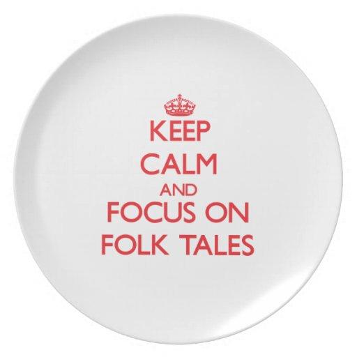 Keep Calm and focus on Folk Tales Plates