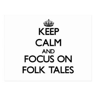 Keep Calm and focus on Folk Tales Postcards