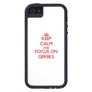 Keep Calm and focus on Gerbils iPhone 5/5S Covers