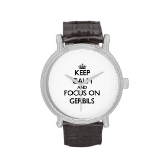 Keep Calm and focus on Gerbils Wrist Watches