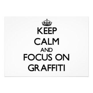 Keep Calm and focus on Graffiti Card