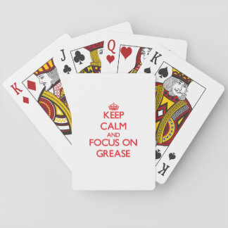 Keep Calm and focus on Grease Playing Cards