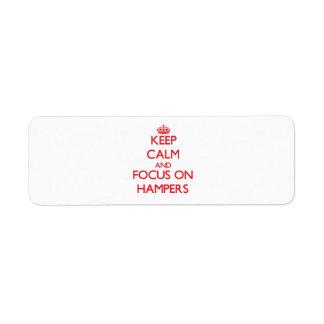 Keep Calm and focus on Hampers Return Address Label