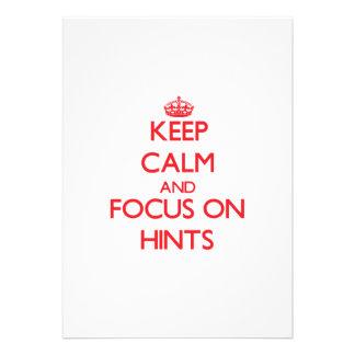Keep Calm and focus on Hints Card