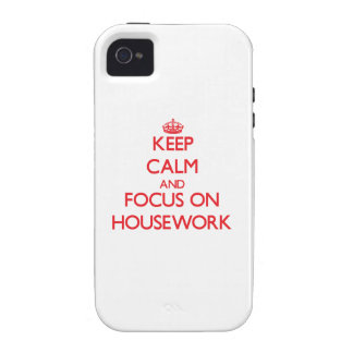 Keep Calm and focus on Housework iPhone 4/4S Cover