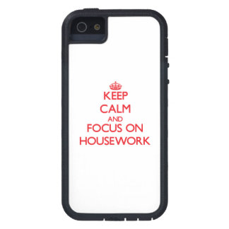 Keep Calm and focus on Housework iPhone 5 Covers
