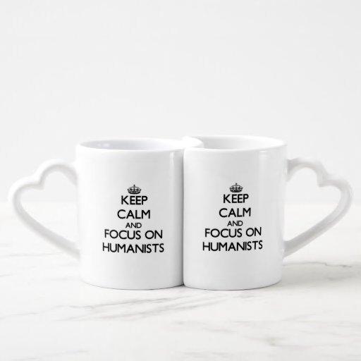 Keep Calm and focus on Humanists Couples Mug