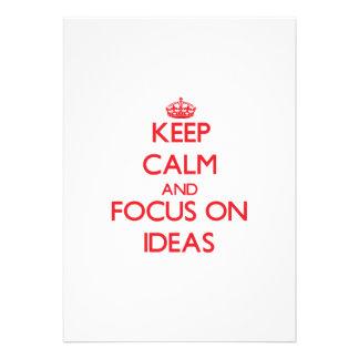 Keep Calm and focus on Ideas Invite
