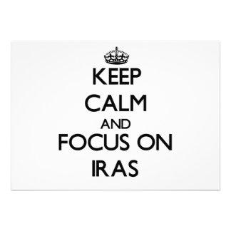 Keep Calm and focus on Iras Card