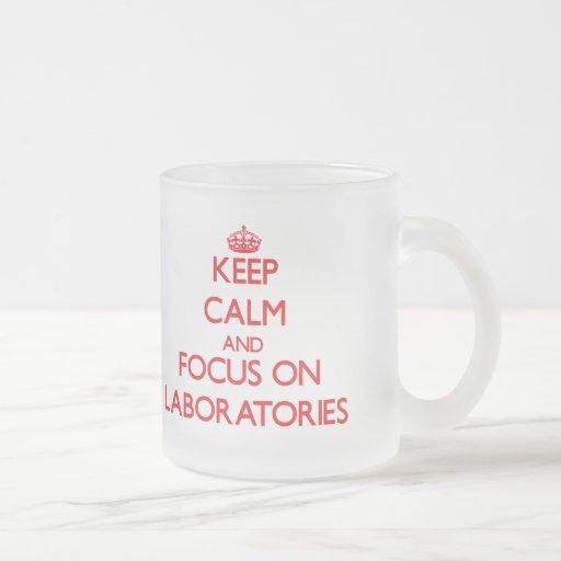 Keep Calm and focus on Laboratories Coffee Mugs