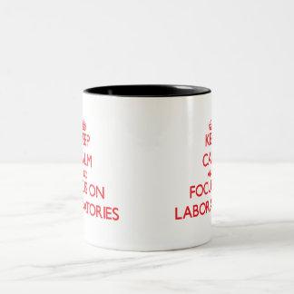 Keep Calm and focus on Laboratories Coffee Mug