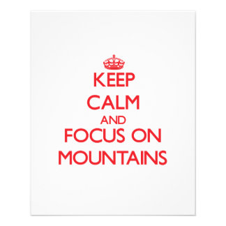 Keep Calm and focus on Mountains Flyers