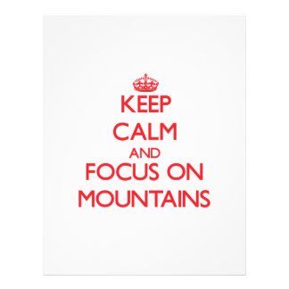 Keep Calm and focus on Mountains Flyer Design