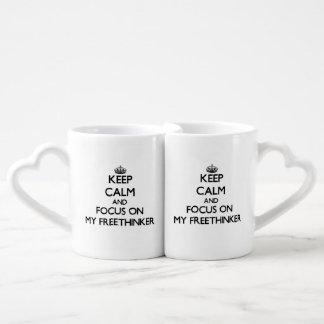 Keep Calm and focus on My Freethinker Couples Mug