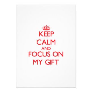 Keep Calm and focus on My Gift Card