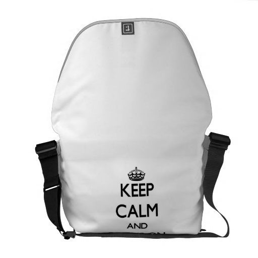 Keep Calm and focus on My Secret Admirer Courier Bag
