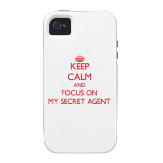 Keep Calm and focus on My Secret Agent iPhone 4/4S Cover