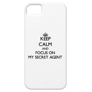 Keep Calm and focus on My Secret Agent iPhone 5 Cases